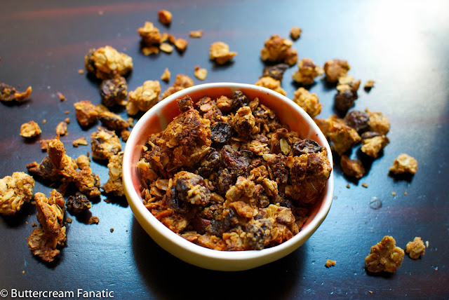 Homemade Cherry Almond Granola