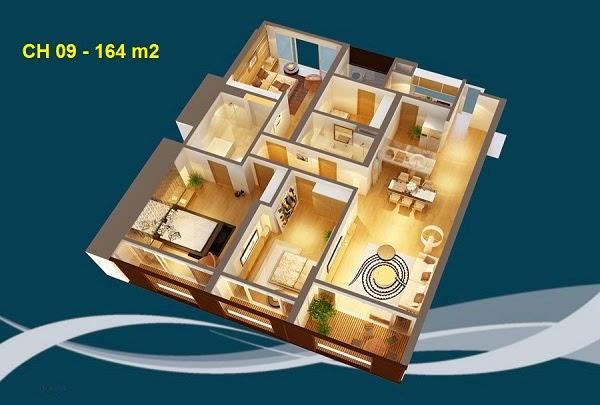 Thiết kế chi tiết căn hộ 09 - 164m2 chung cư Dolphin palza 28 trần bình