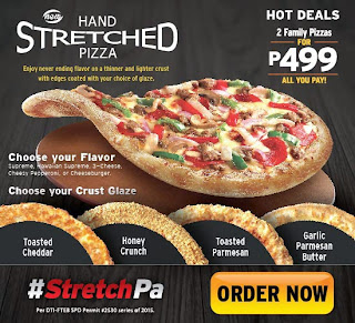 Pizza Hut, Pizza Hut Hand Stretched Pizza, Pizza Hut Promo