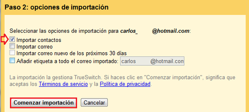 Importar contactos de una antigua cuenta a Gmail