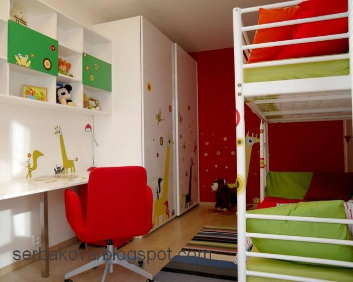 интерьер детской с откидной кроватью