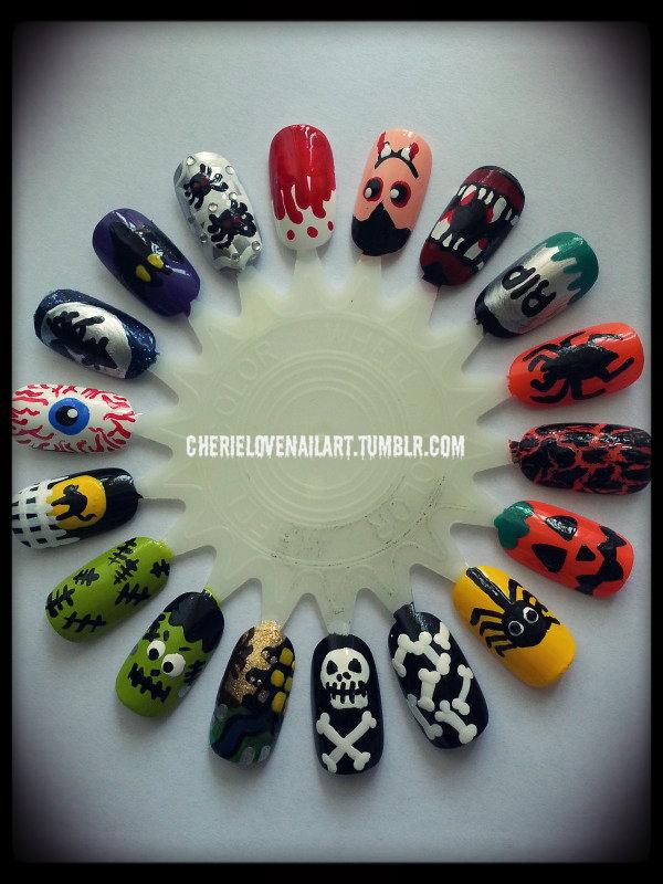 Único Uñas Negro Tumblr Arte Ornamento - Ideas Para Esmaltes ...