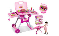 New Berbecue Kitchen Pink with Wheel Sound &amp; Light,Big Sale RM90 only!!!