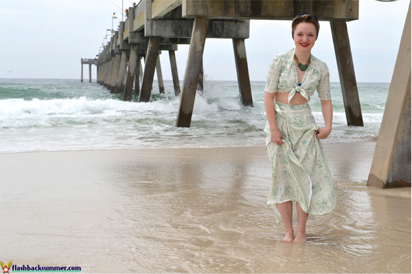 "Flashback Summer: Wearing History ""Sunkissed Sweetheart"" 1940s Sarong Separates"