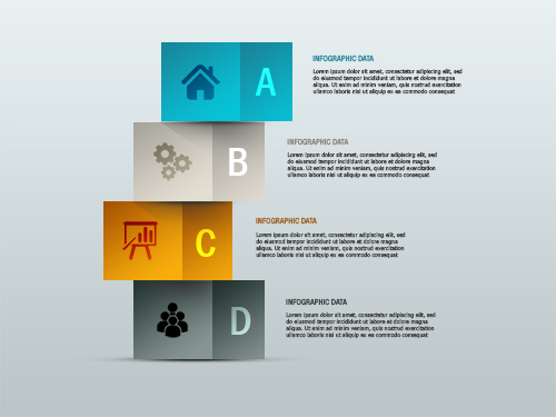 Free PSD Infographic Colorful Boxs