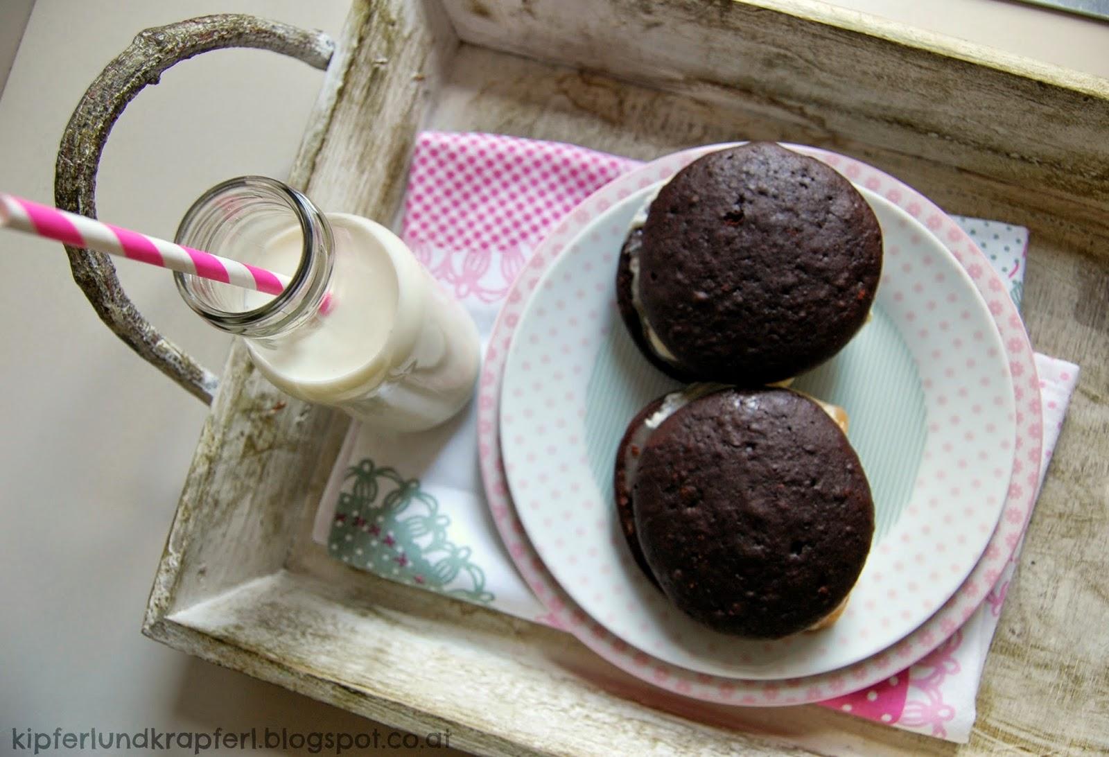 Whoopie Pie, Ice Cream, Eiscreme, Eis, Sandwich, Backen, Foodblog, Kipferl und Krapferl, Rezept