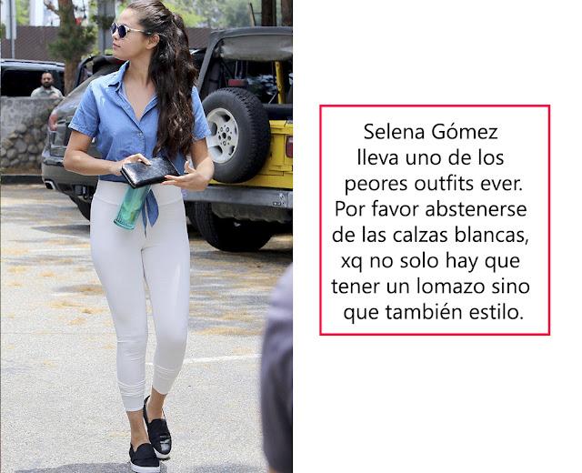 selena gomez white legging 90´s