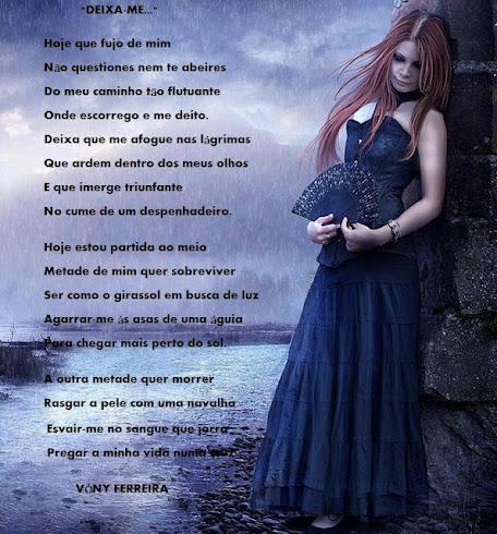 DEIXA-ME... / Poema escrito por VÓNY FERREIRA