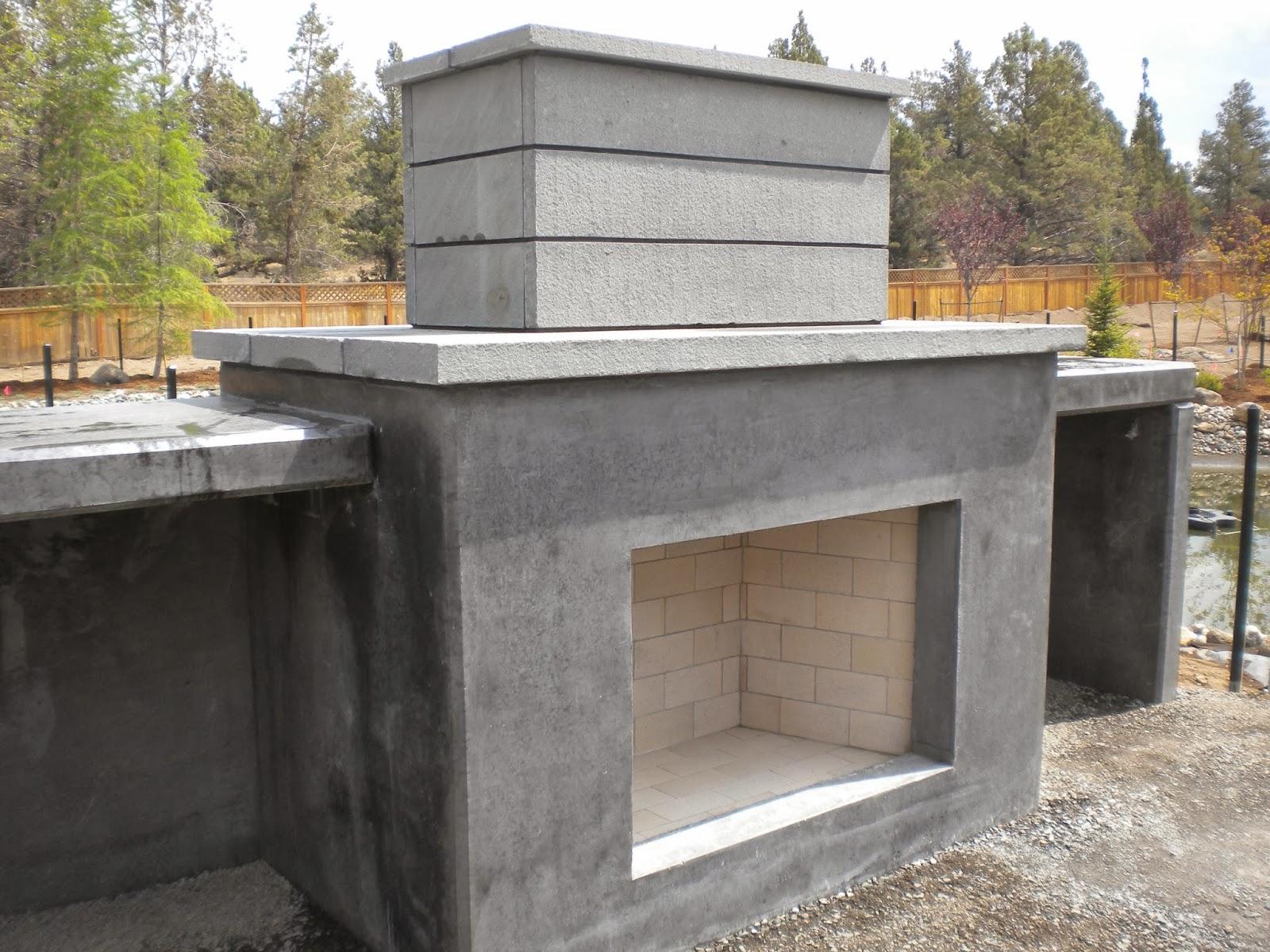 Outdoor Fireplace Installation : Boisineau masonry outdoor fireplace firebox and bluestone