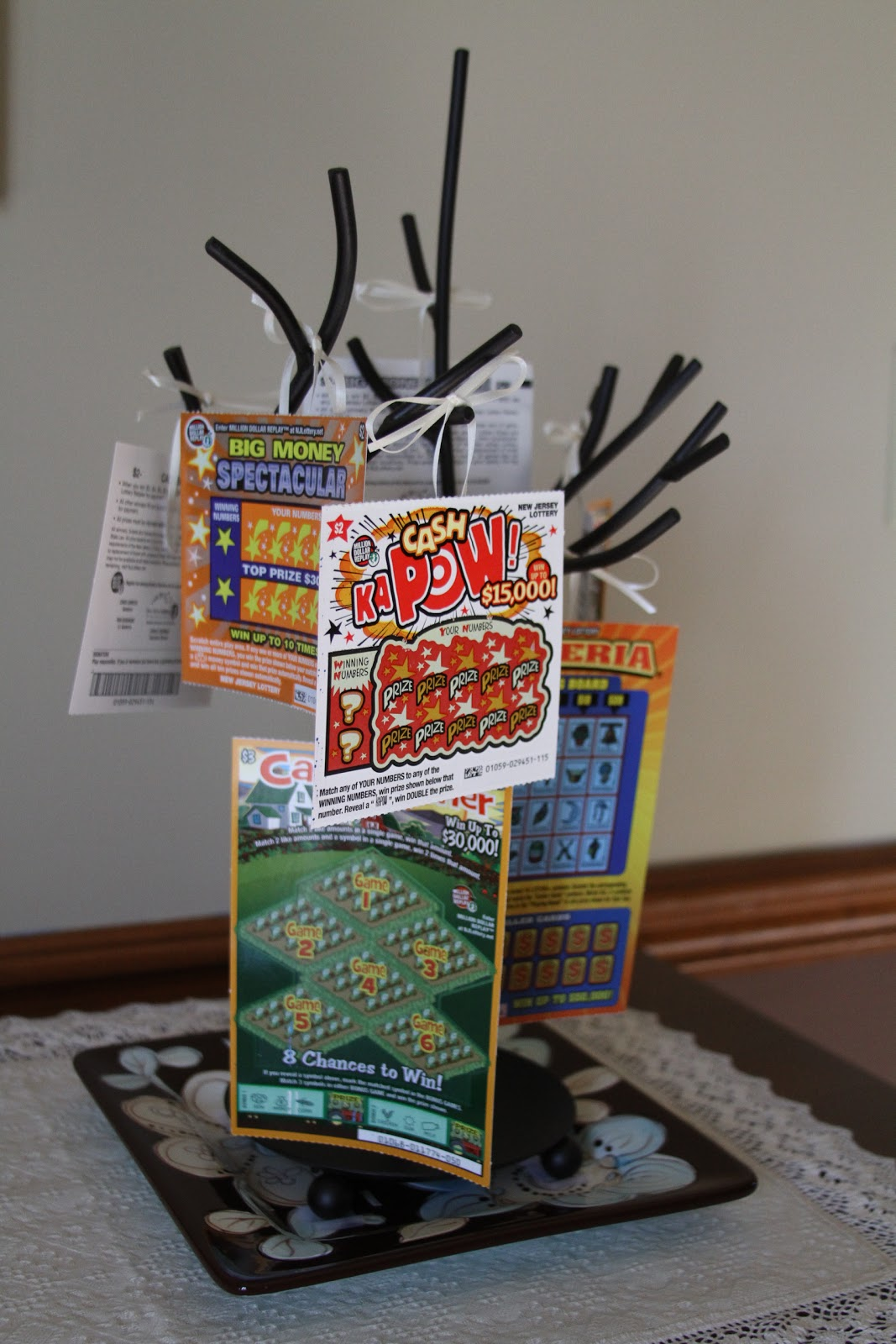 simple lottery ticket gift basket | just b.CAUSE
