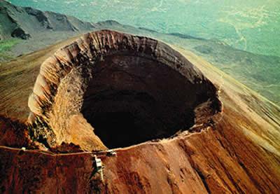 El Volcán Vesubio. Napoles. Italia. Sur de Italia