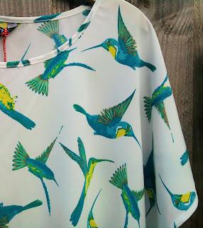 M&S Limited Edition Kingfisher print blouse