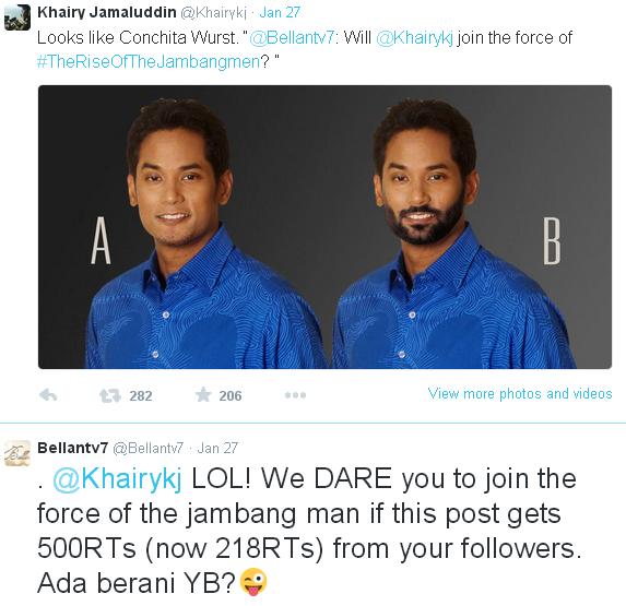 Mana satu lelaki lebih sejati Khairy berjambang ker atau Khairy muka halus