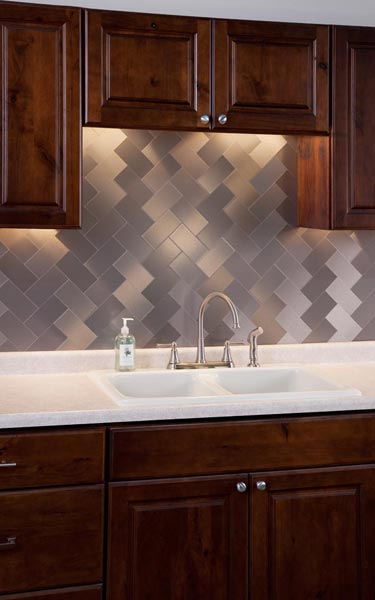 aspect stainless steel backsplash easy home decorating ideas