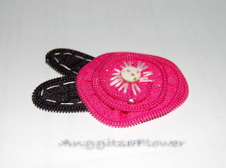 Bros Resleting Mawar (Zipper Flower Brooch)