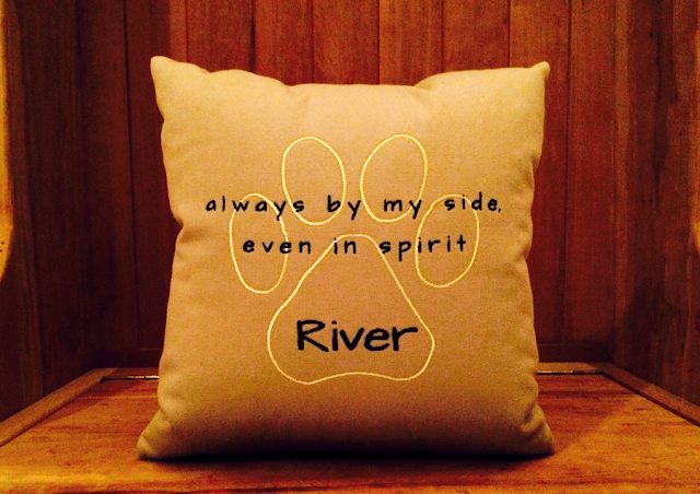 Pet Loss Pillow | Always By My Side Even In Spirit | Belinda Lee Designs