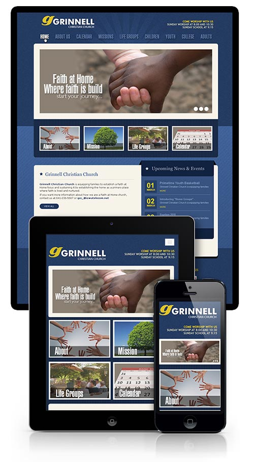 Responsive website design for Church Community