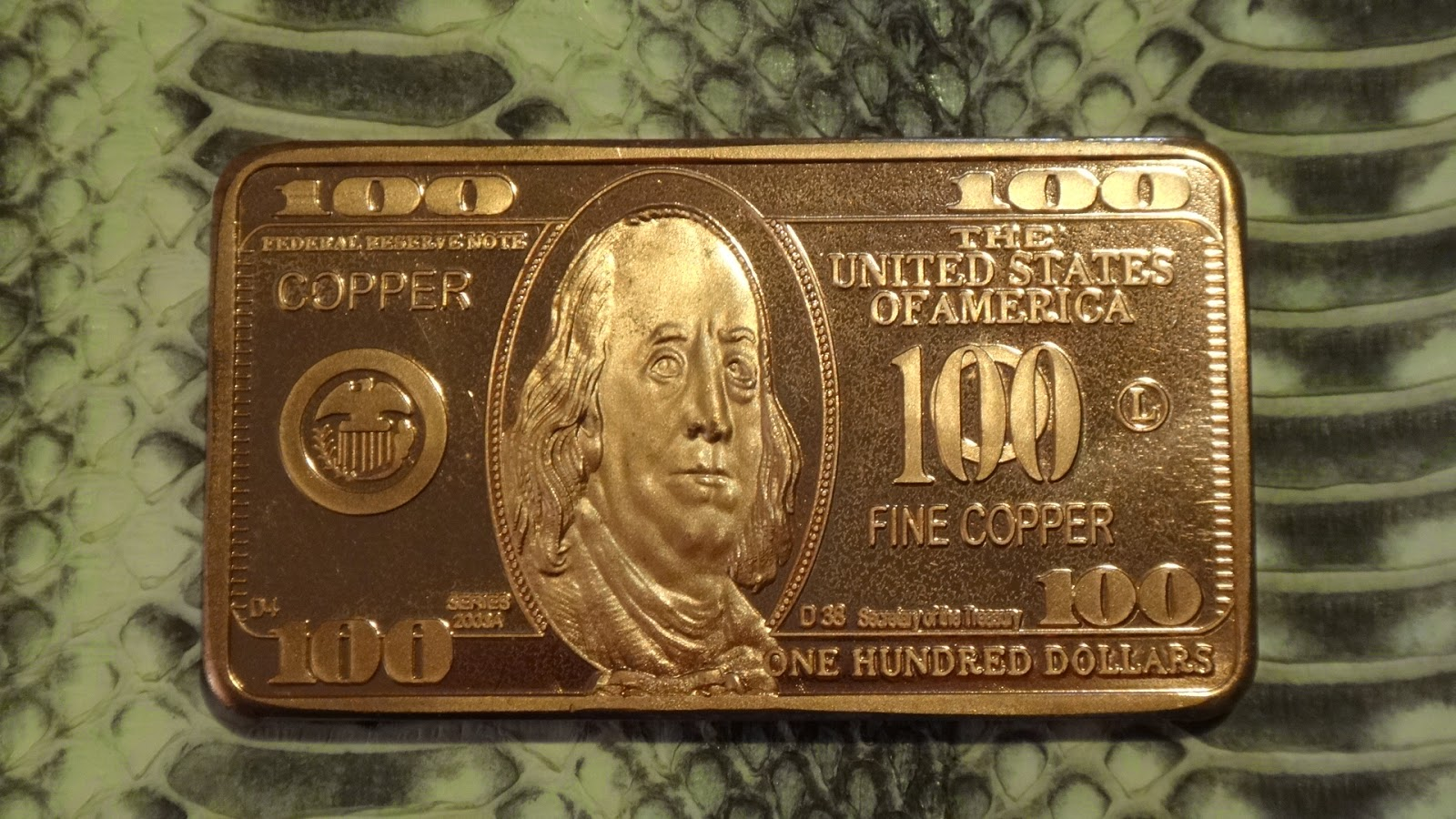Base Metals Bullion Various Copper Bullion Art Bars 1oz