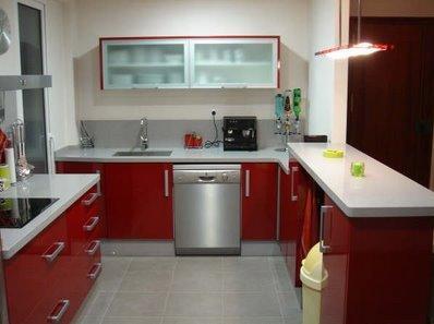 Decora el hogar cocinas color rojo - Cocinas color rojo ...