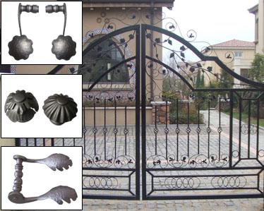 Rejas cercas vallas hierro forjado con revestimiento - Rejas de hierro forjado ...