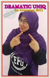 menangi hadiah wang tunai RM350, parody gambar, parody aksi, giveaway pertama saya, dramatic uniq, blogger malaysia