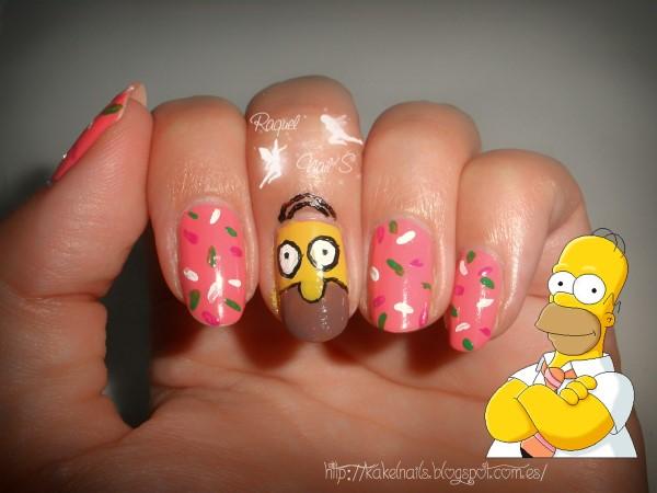 Homer nail art