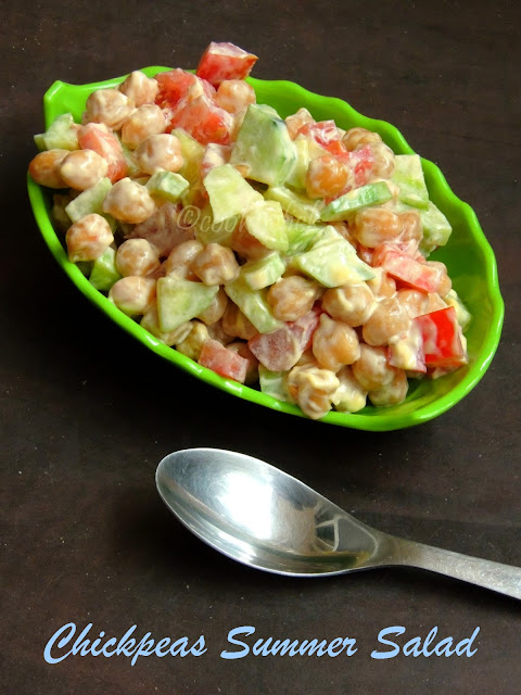 Salad with chickpeas, Summer salad