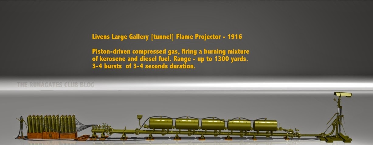 Livens Large Gallery Flame Projector - detailed model of the weapon.