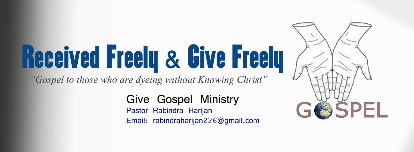 GIVE GOSPEL MINISTRY - Nepal.