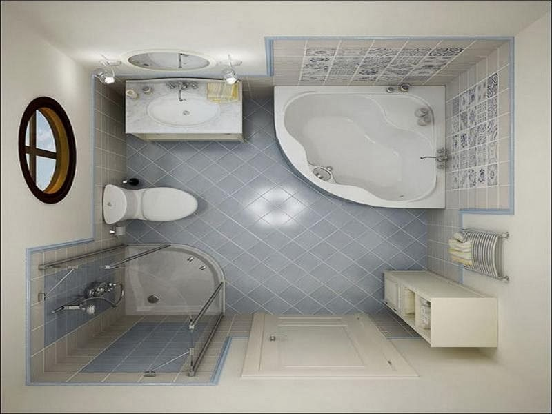 Expressing character with small bathroom ideas home for Toilet and bath design small space