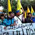 Aksi Tolak UU MD3 Oleh Mahasiswa PMII Surabaya Ricuh