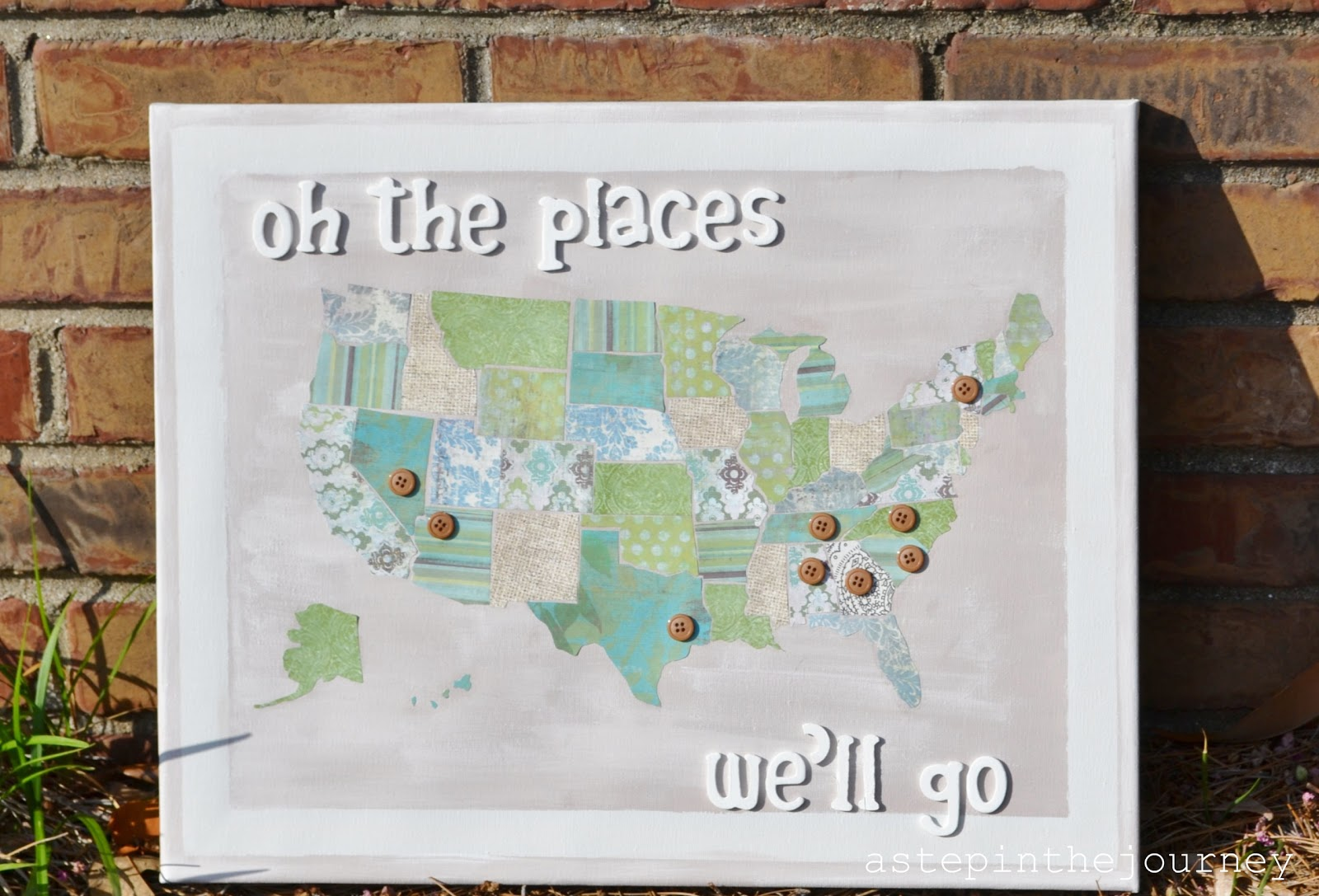 Scrapbook Paper Us Map Tutorial - Us paper map