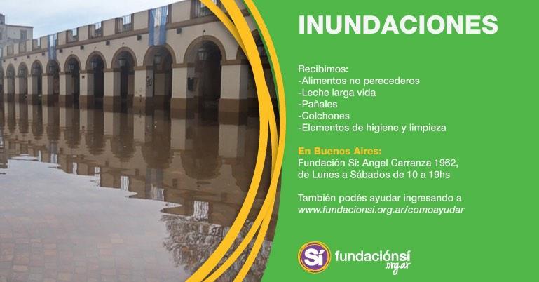 Voluntarios de Fundación Sí reciben donaciones