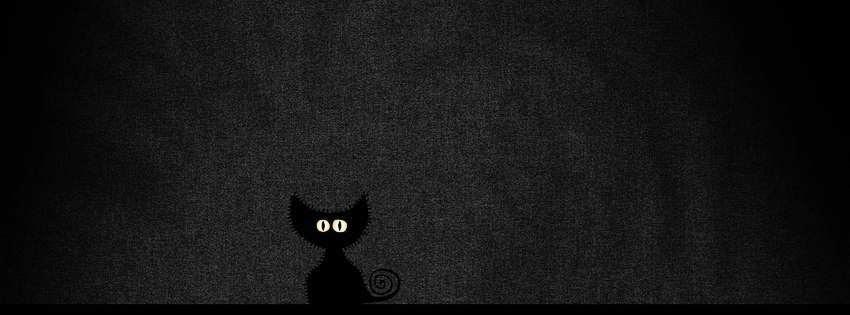 Une couverture facebook noir