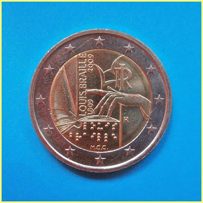 Louis Braille Italia 2009 2 Euros