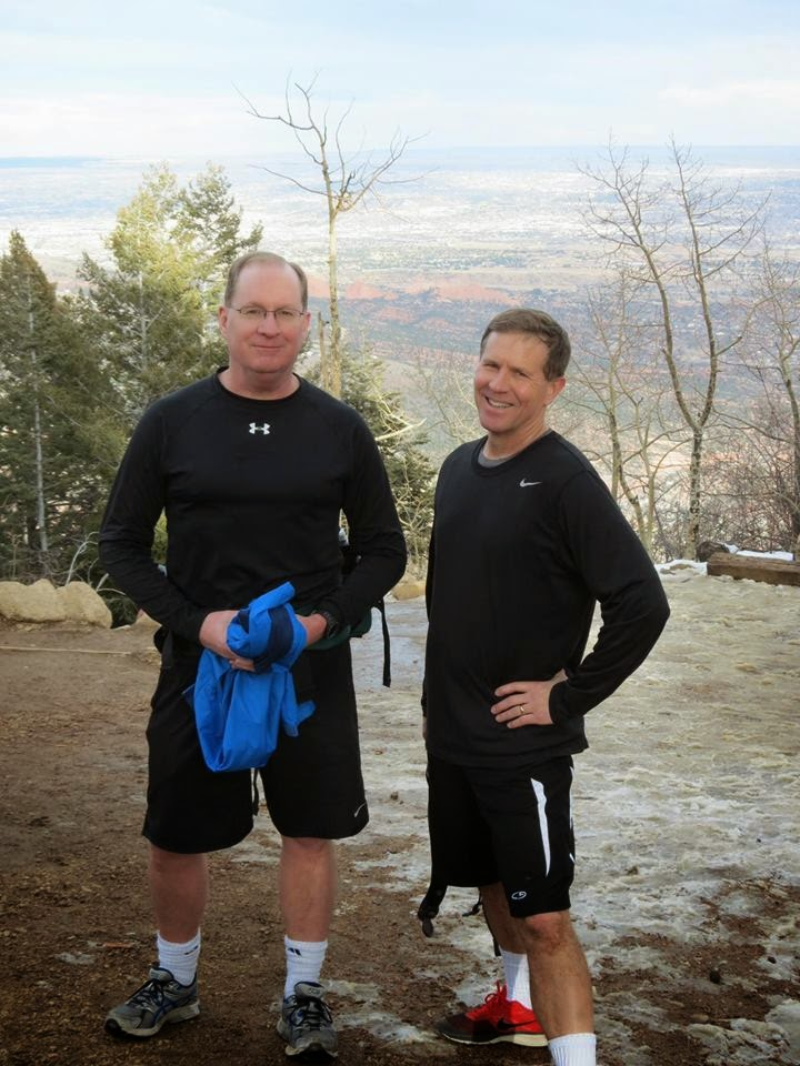 Jeff Snyder and his hiking buddy