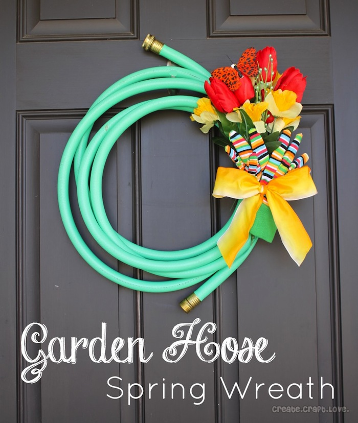 Garden Hose Wreath by Create. Craft. Love. #wreath