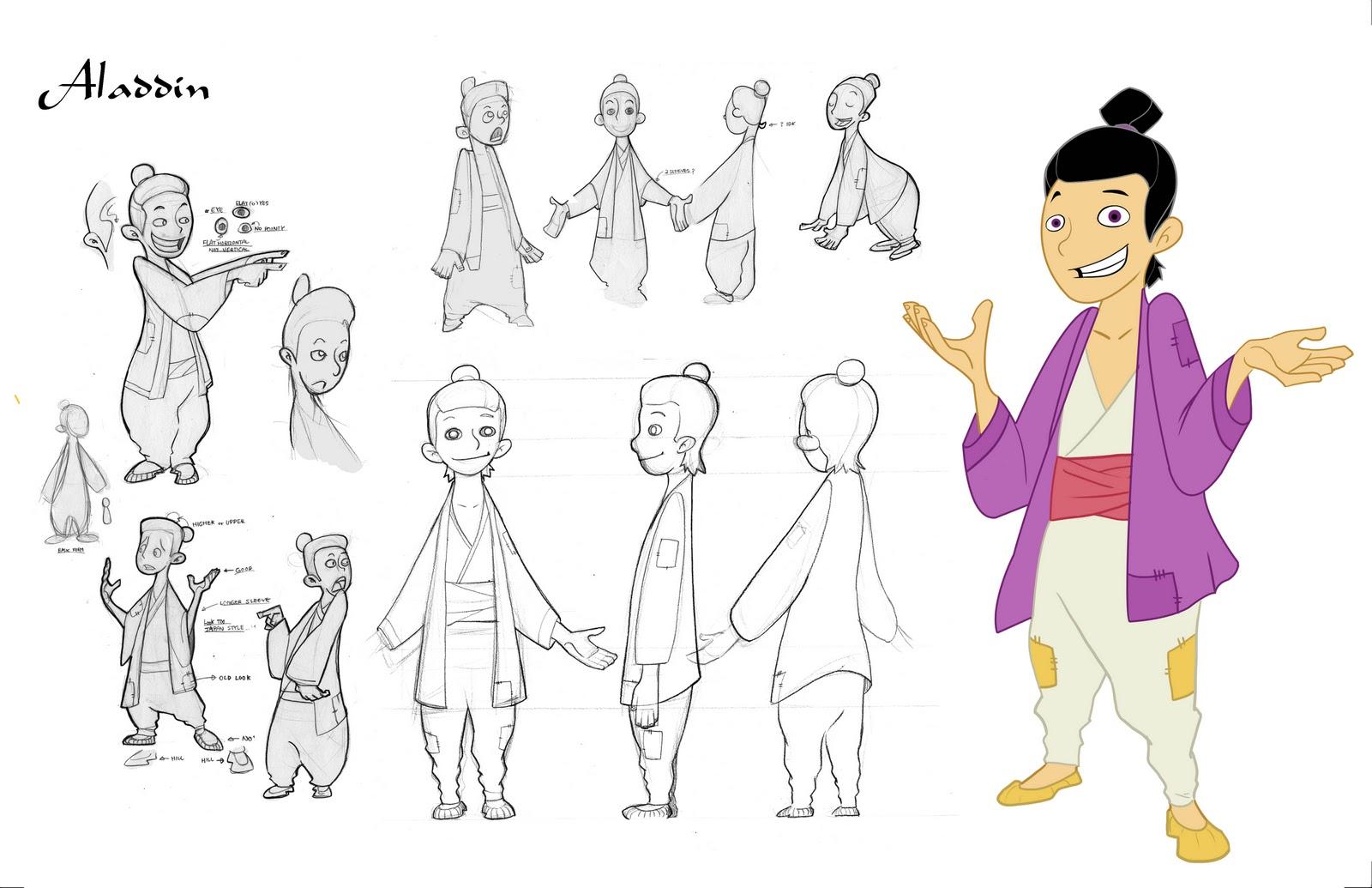 Disney Character Design Internship : Jin choi character project aladin