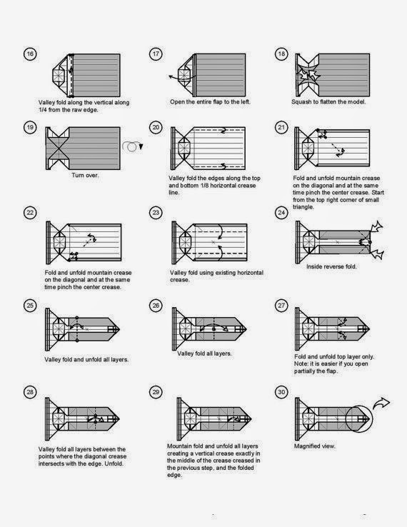 origami camera instructions art stock images