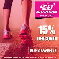 DESCONTO DE 15% na EU Nutrition. Usa o código EUNARWEN15