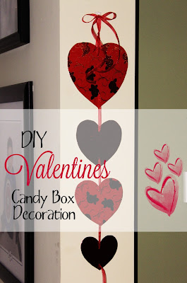 DIY Valentines candy box Decoration