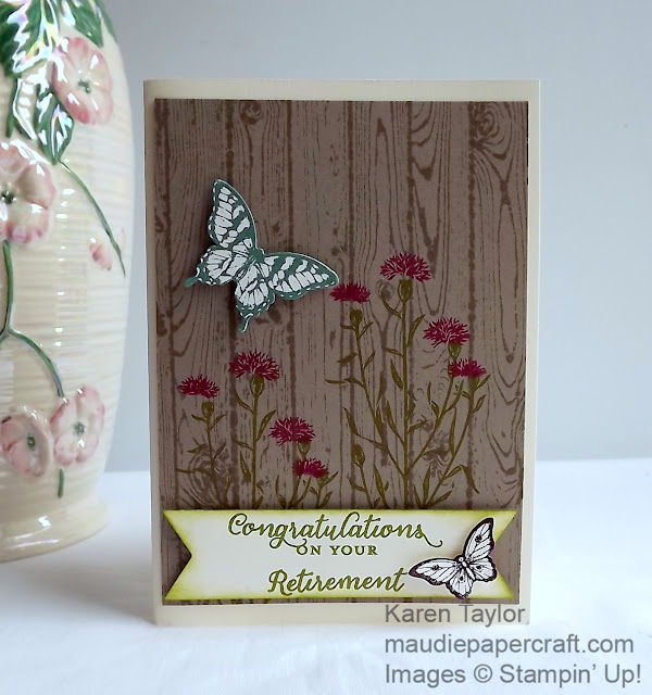 Stampin' Up! Wild About Flowers card