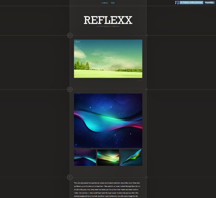 Reflexx Tumblr Theme