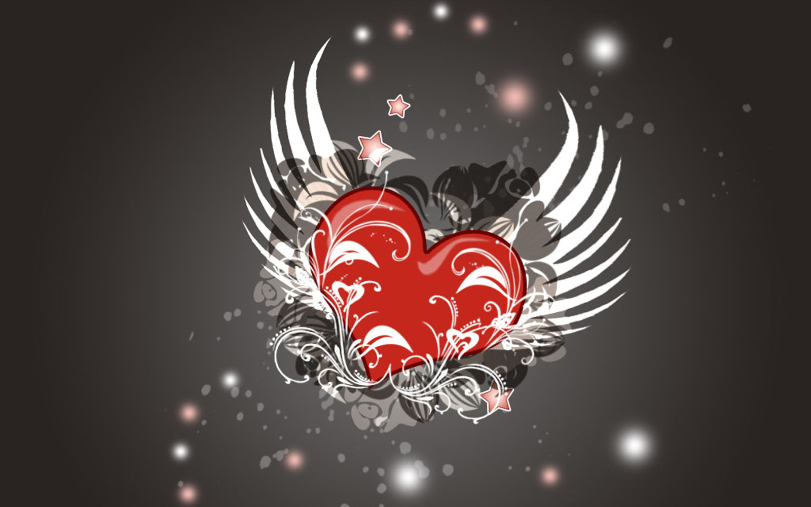 Love Heart Gallery Wallpaper : wallpapers: Flying Hearts Wallpapers