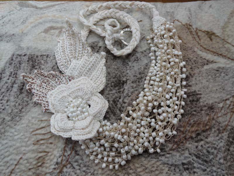 Ожерелье крючком
