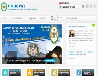 Resultados Ingresantes Examen Admisión UNHEVAL 2015-I 14 de septiembre