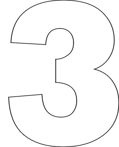 Цифра 3 на день рождения шаблоны