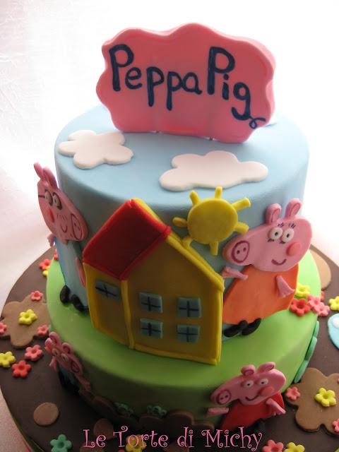 torta peppa pig a piani (pegga pig cake)