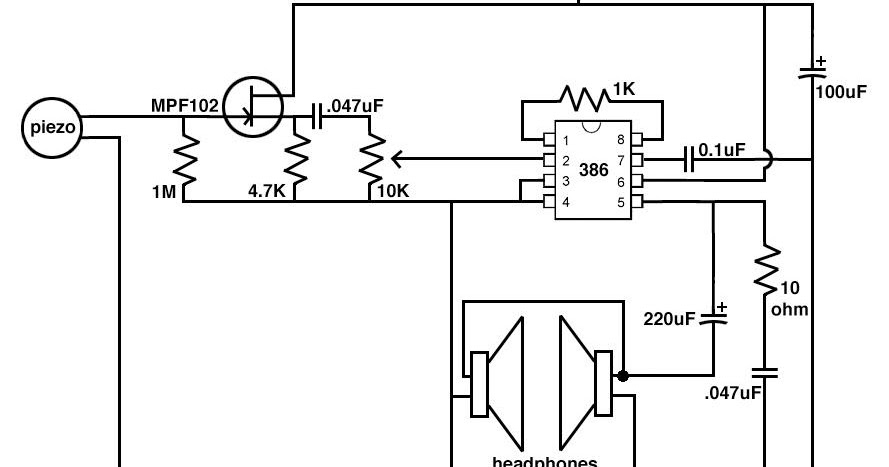 the development of low cost electronic stethoscope   fyp week 2   the circuit diagram