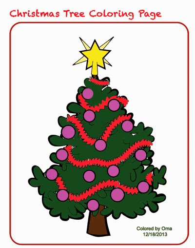Christmas Tree Coloring Sheet - Free